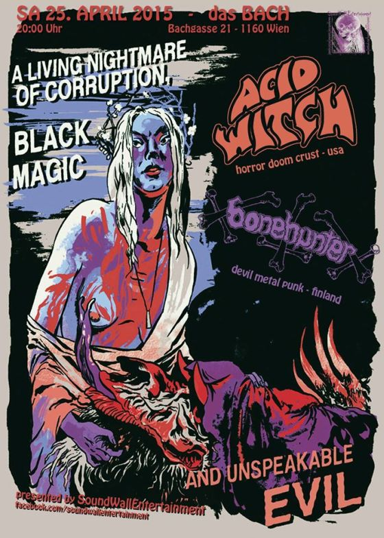 Acid Witch Wien flyer