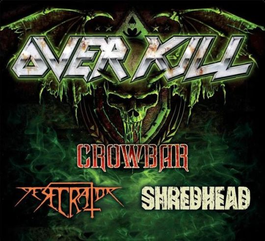Overkill Crowbar tour flyer