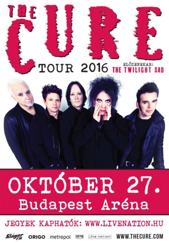 The Cure flyer Budapest 2016